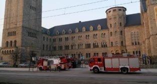 Alarm pożarowy w CK Zamek