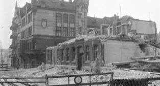 Stawna - ruiny budynku 16.03.1975