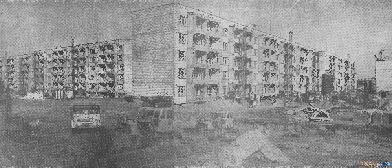 Osiedle Lecha - od lewej budynki 10, 6 i 7 - luty 1975