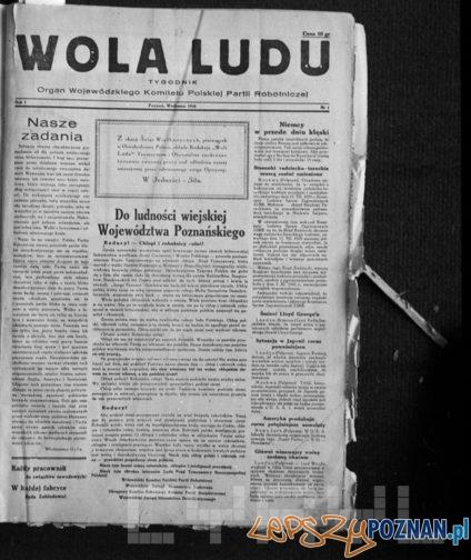 Wola Ludu - pierwszy numer wydrukowany 23 marca 1945 - ukazał się 1 kwietnia