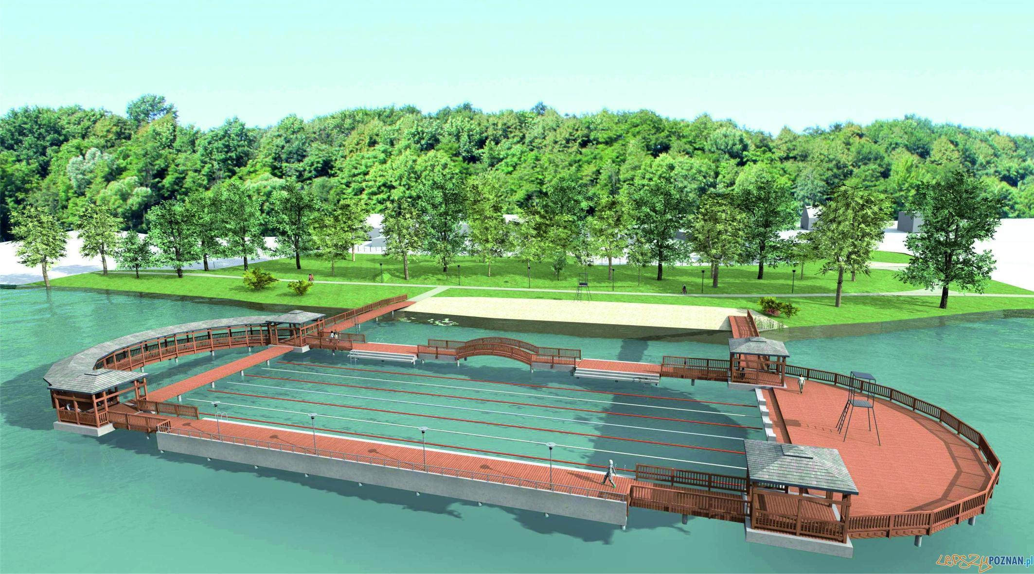 Zespół pomostów na jeziorze Biezdruchowo - wizualizacje