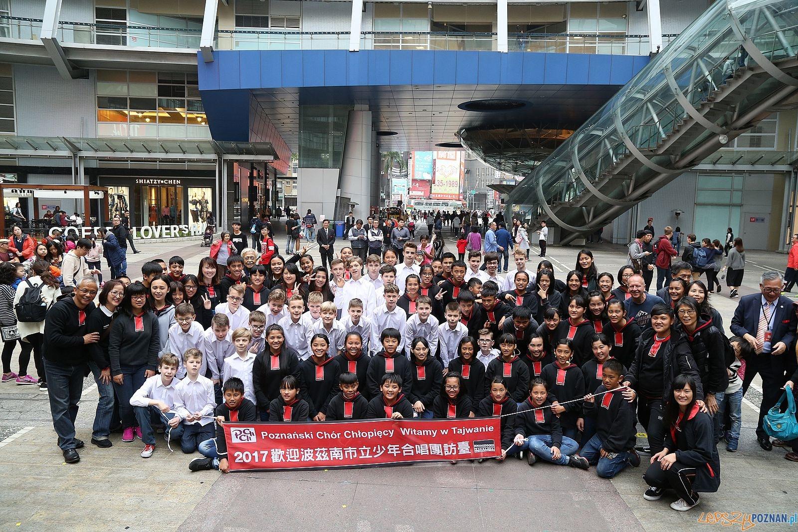 Poznański Chór Chłopięcy na Tajwanie  - flash mob  Foto: materały prasowe