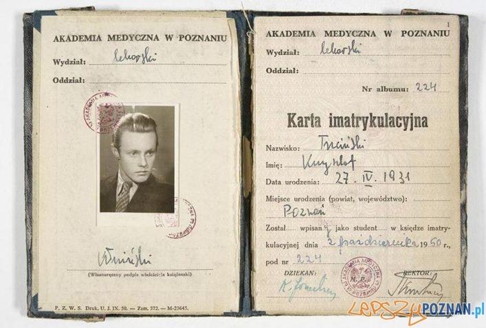 Krzysztof Komeda Trzciński - Indeks Akademii Medycznej w Poznaniu