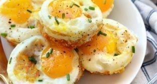 jajeczne babeczki z batatem, czyli słodką pyrą