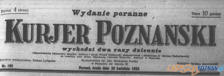 Kurjer Poznański 26.04.1933 - winieta