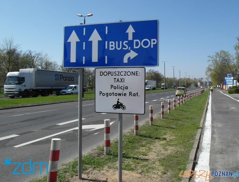 Autobusy (i nie tylko) mają swój pas na ul. Warszawskiej  Foto: ZDM