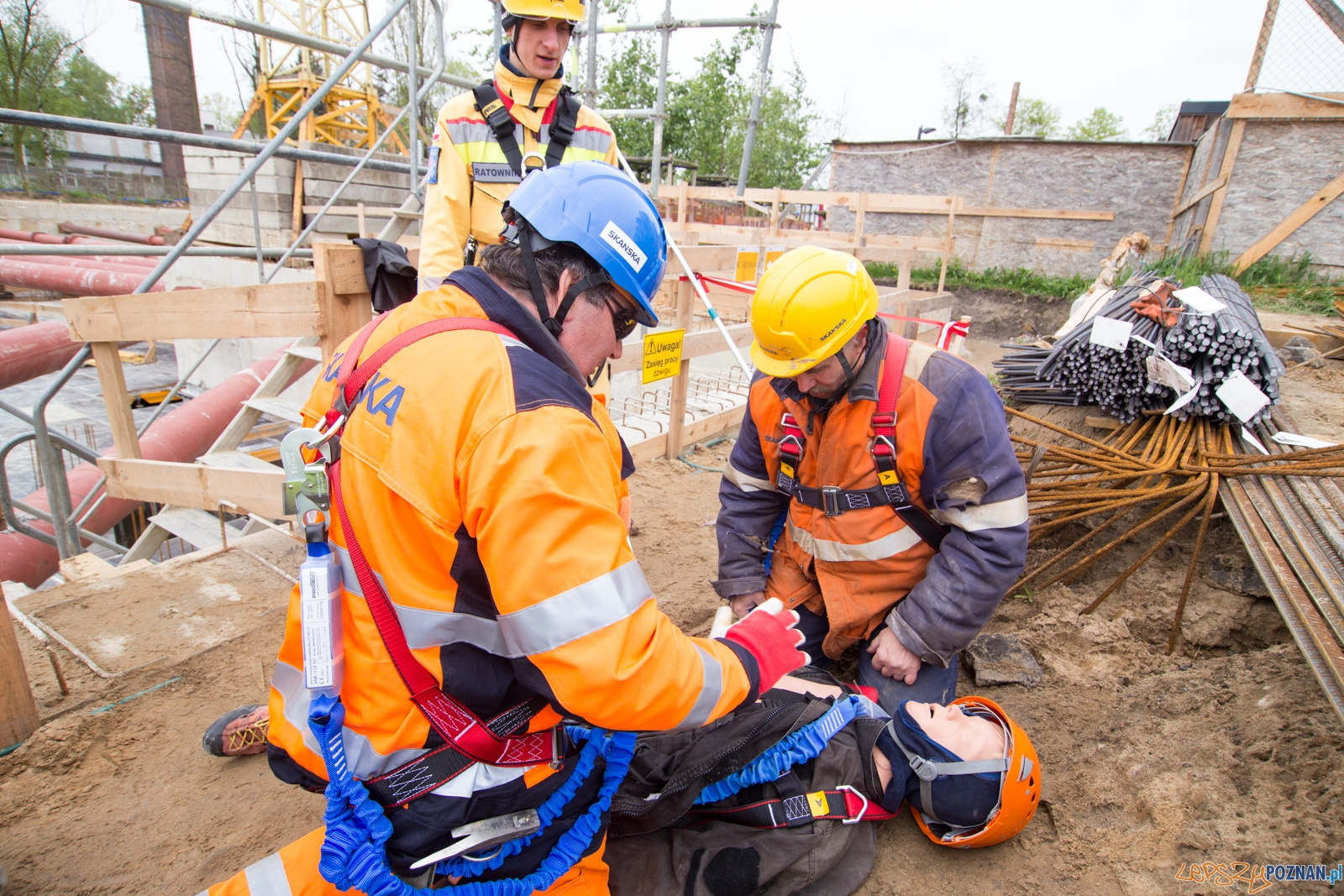 Tydzień bezpieczeństwa - szkolenie na terenie budowy Pixel 3  Foto: lepszyPOZNAN.pl / Piotr Rychter