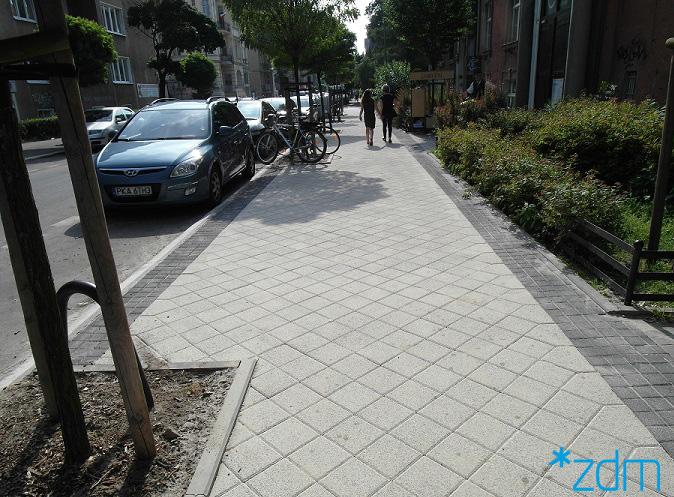 Nowy chodnik na Słowackiego  Foto: ZDM