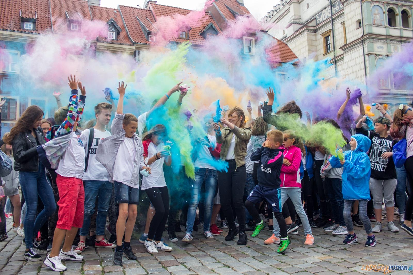 Kolorowy Flash Mob  Foto: lepszyPOZNAN.pl / Ewelina Jaśkowiak