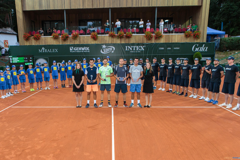 Wręczenie nagród finalistom turnieju deblowego Poznań Open 20  Foto: Pawel Rychter