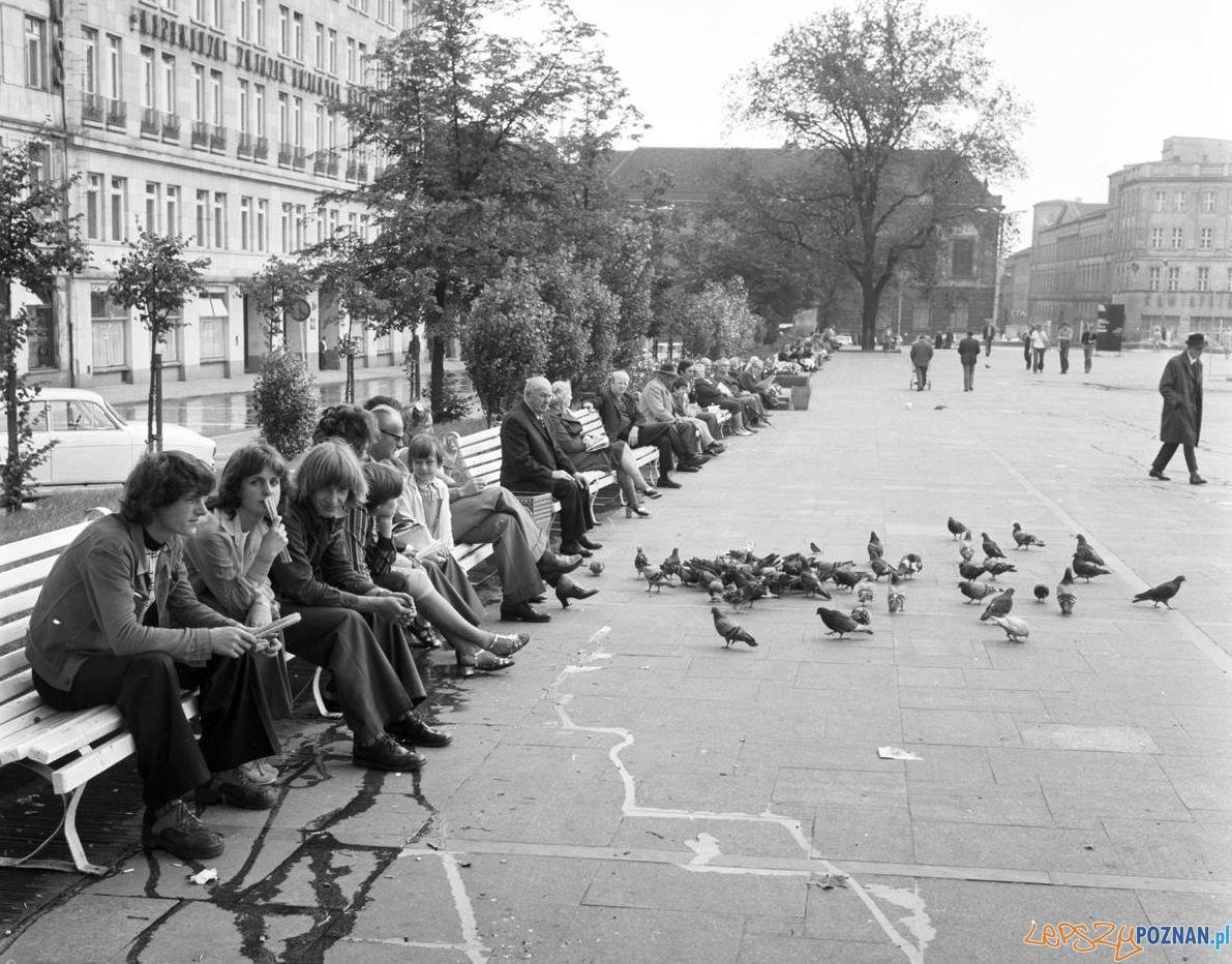 Plac Wolności 8 lipca 1974  Foto: Stanisław Wiktor / Cyryl