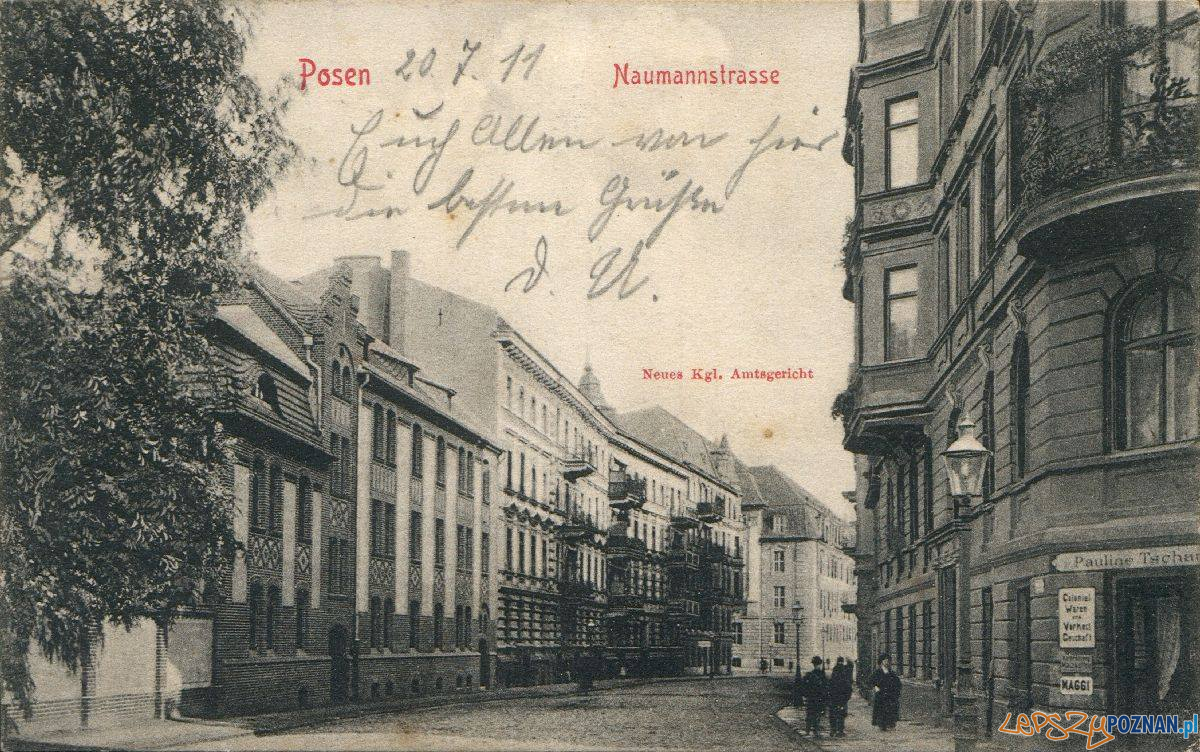 Działyńskich - Naumannstrasse, pocz. XX wieku  Foto: Biblioteka Uniwersytecka
