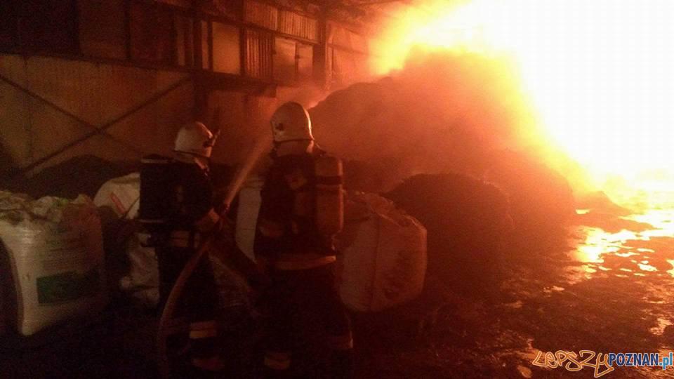 Pożar magazynu  Foto: OSP Kostrzyn