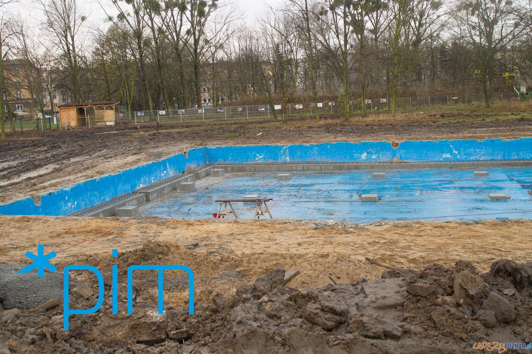 Trwa remont pływalni w parku Kasprowicza  Foto: PIM