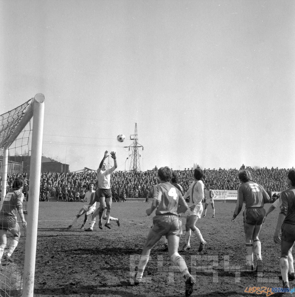 Debiec stadion Lech Poznan Stal Mielec 12.03.1978 S.Wiktor Cyryl (4)  Foto: Stanisław Wiktor / Cyryl