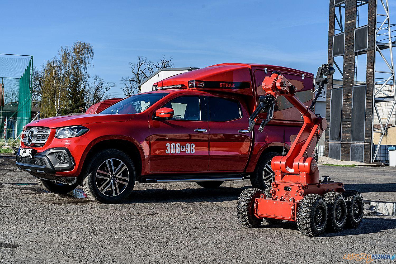 Pierwszy robot na służbie w Państwowej Straży Pożarnej w Wielkopolsce  Foto: KW PSP Poznań