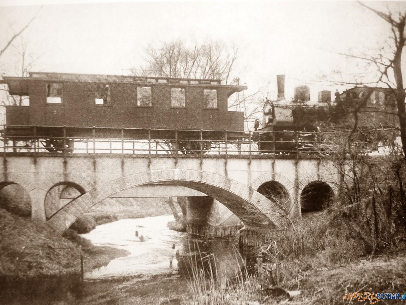 Most na Cybinie przed 1920 - dziś jest tu jezioro  Foto: fotopolska