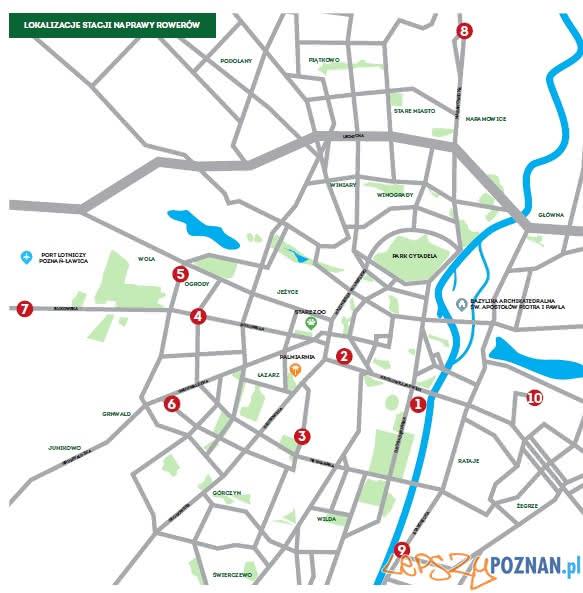 Stacje naprawy rowerów Poznan  Foto: materiały prasowe