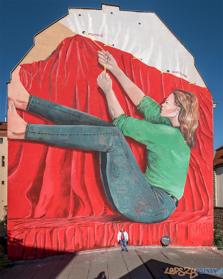 Mural Nowowiejskiego  Foto: M. Zakrzewski Fundacja Malta / materiały prasowe