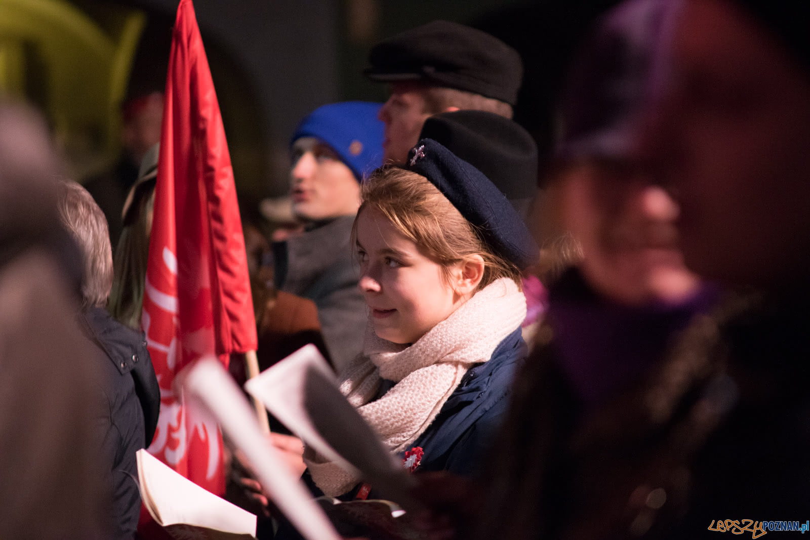 Wielkopolanie śpiewaja Niepodległej  Foto: lepszyPOZNAN.pl / Ewelina Jaśkowiak