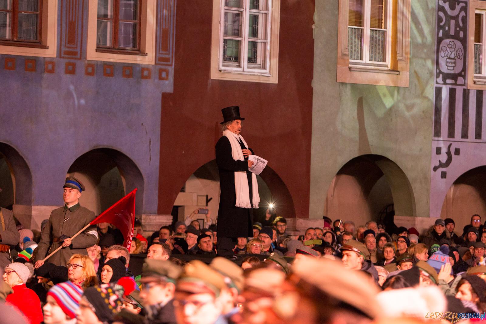 """""""Wielkopolanie śpiewają Niepodległej. W chwilach próby zwycięstwo!"""" - Poznań 28.12.2018 r.  Foto: LepszyPOZNAN.pl / Paweł Rychter"""