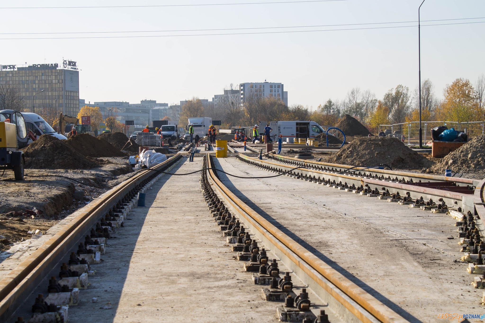 Budowa trasy tramwajowej odcinka trasy od ronda Żegrze do ul. Unii Lubelskiej - listopad 2018  Foto: PIM