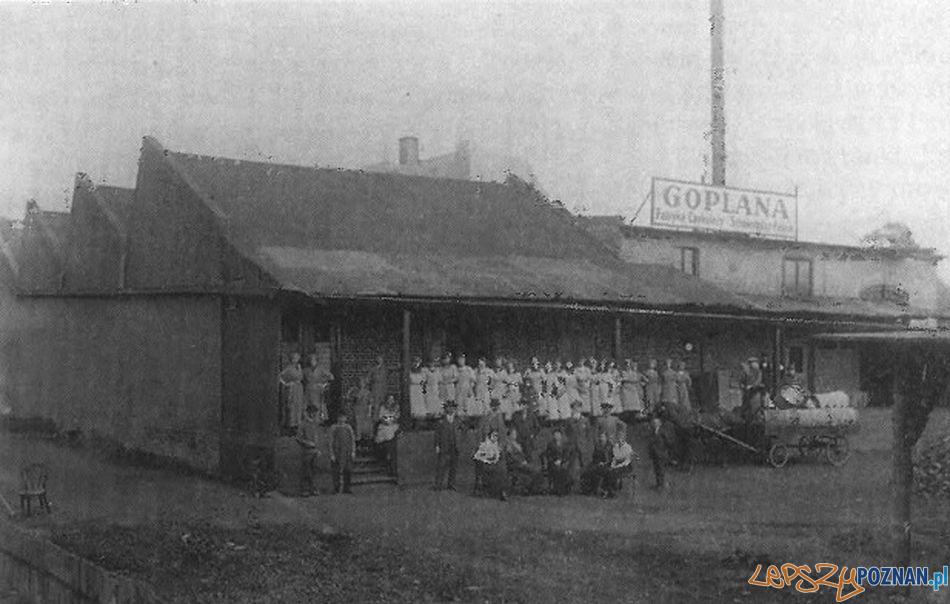 Fabryka Czekolady Goplana przy ulicy Warszawskiej (najstarsza zachowana fotografia z ok. 1914 r.)  Foto: KMP