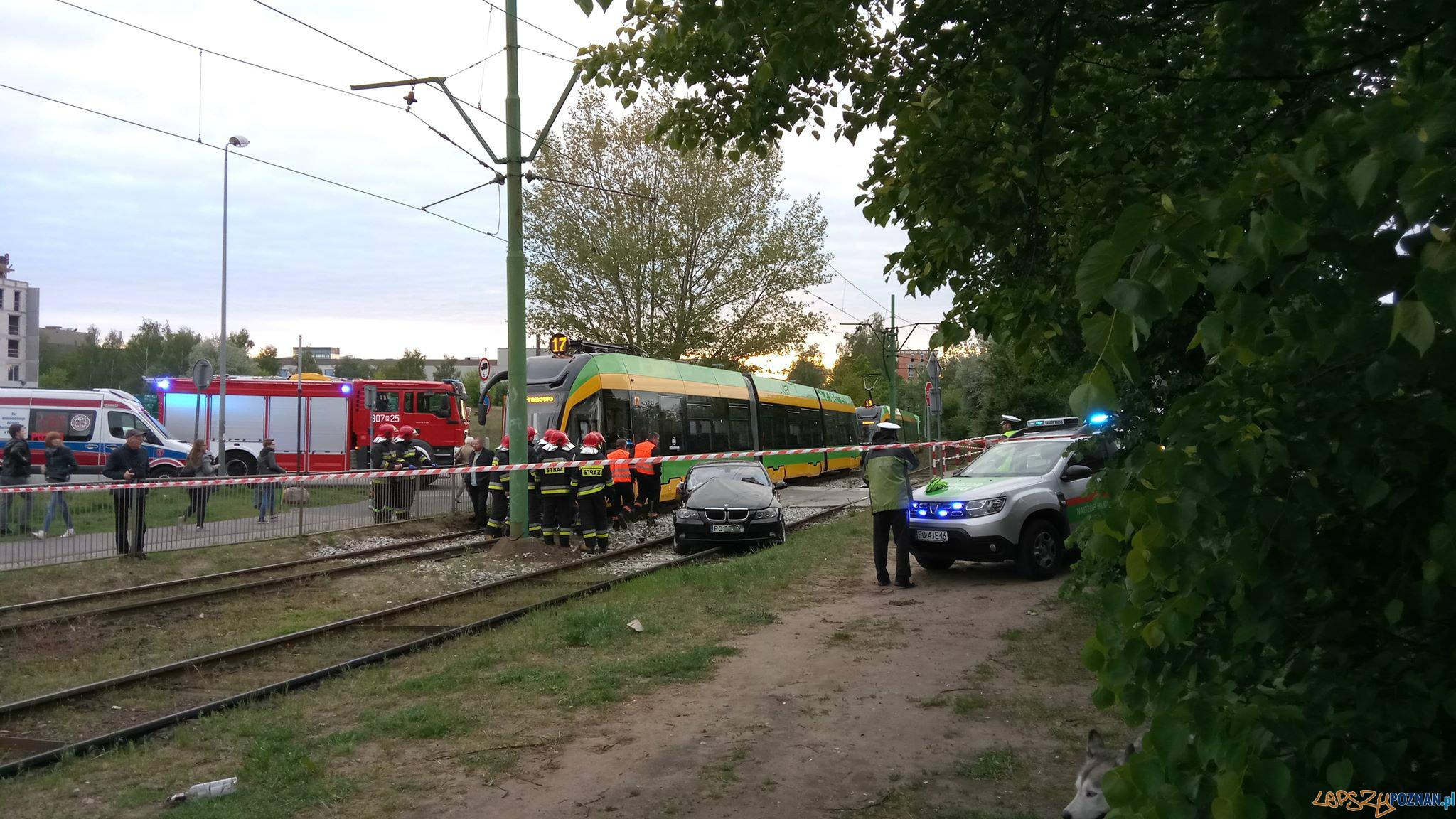 Zderzenie samochodu z bimbą  Foto: Piotr Rychter