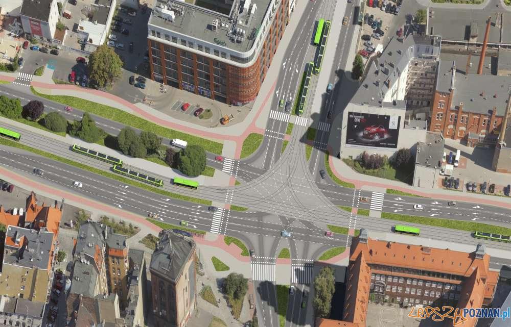 Wizualizacja trasy  tramwajowej  Foto: ZTM