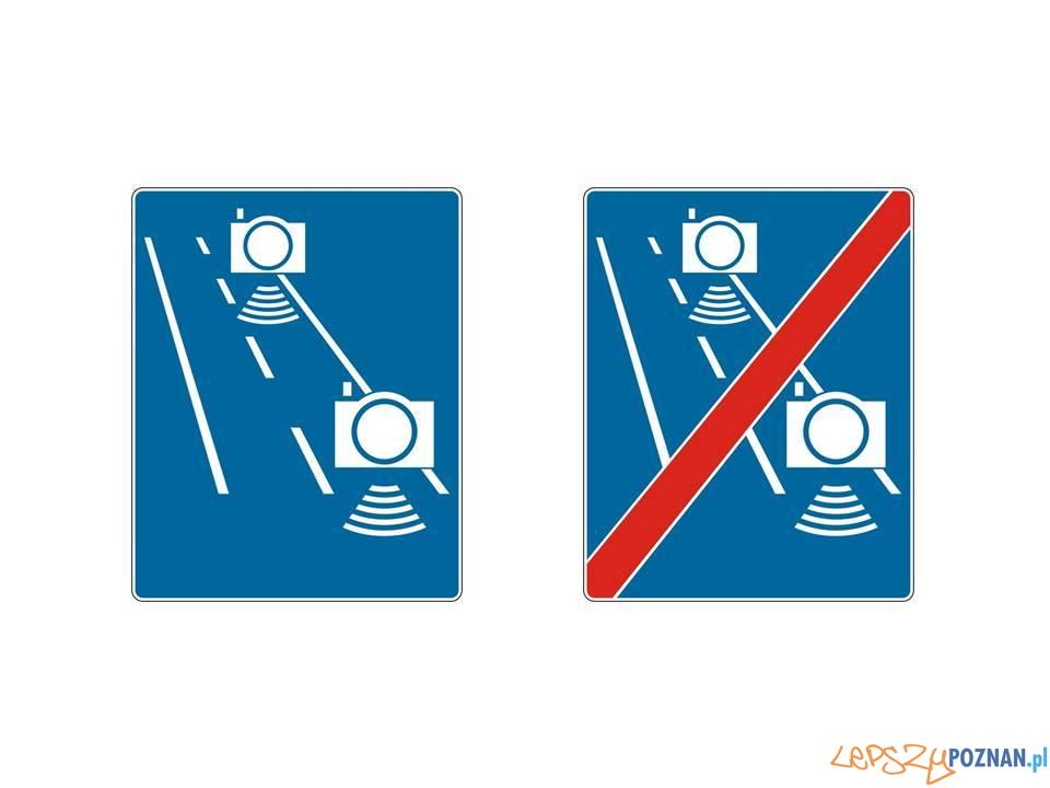 Nowe znaki drogowe - automatyczna kontrola średniej prędkości  Foto: materiały prasowe / MI