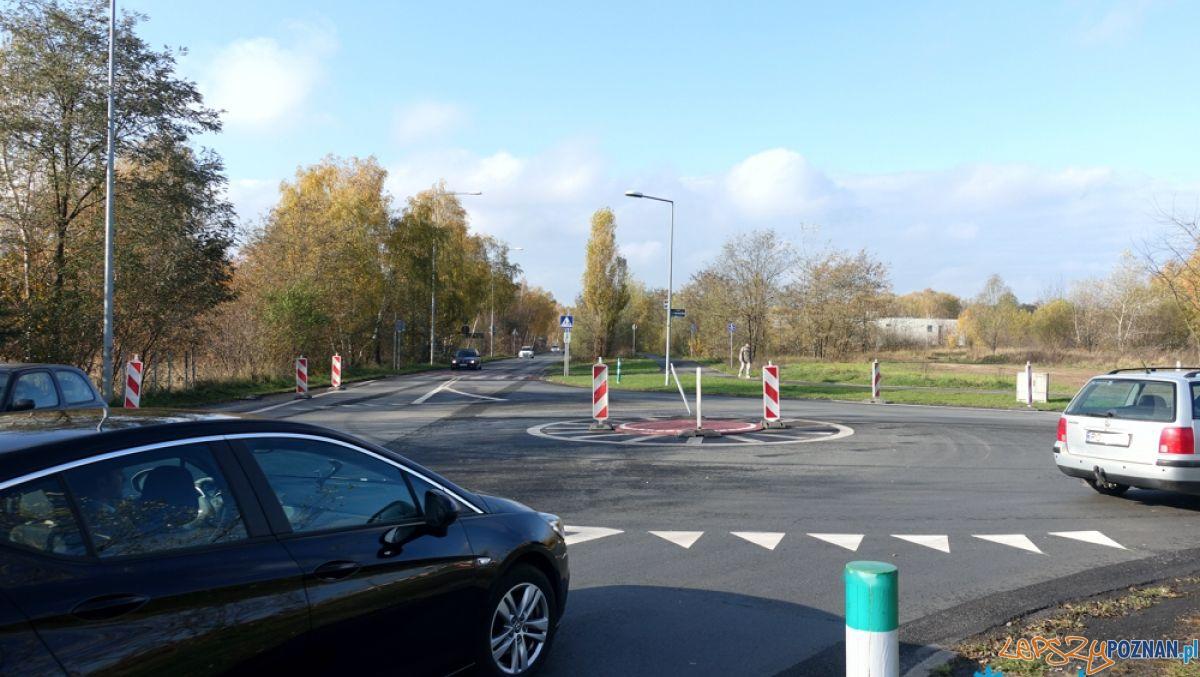 Nowe rondo na skrzyżowaniu ulic Koszalińskiej i Literackiej  Foto: Zarząd Dróg Miejskich Poznań