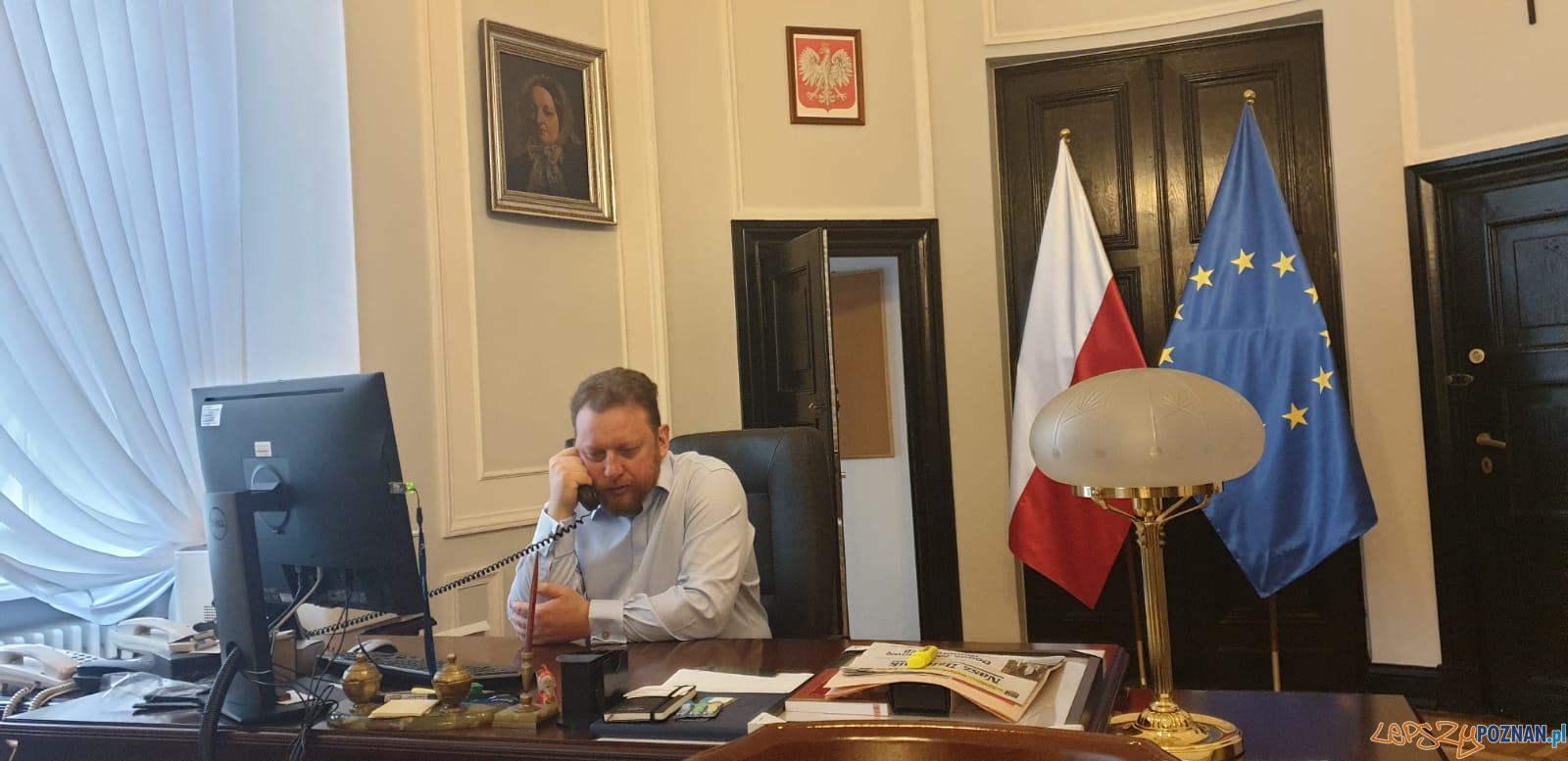 Minister Zdrowia  Łukasz Szumowski  Foto: Twitter @ MZ_GOV_PL