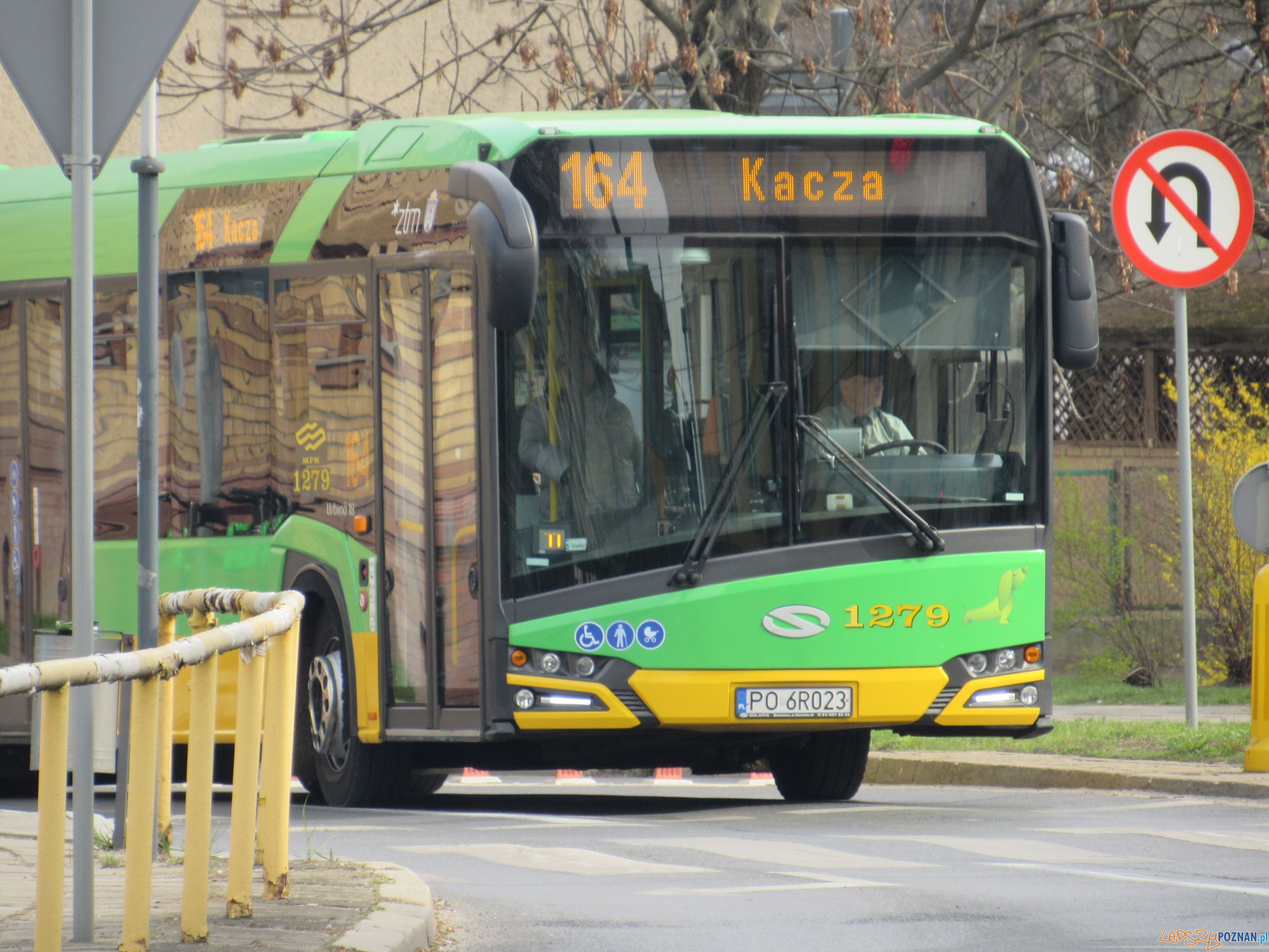 Autobus 164 - kierunek Kacza  Foto: ZTM