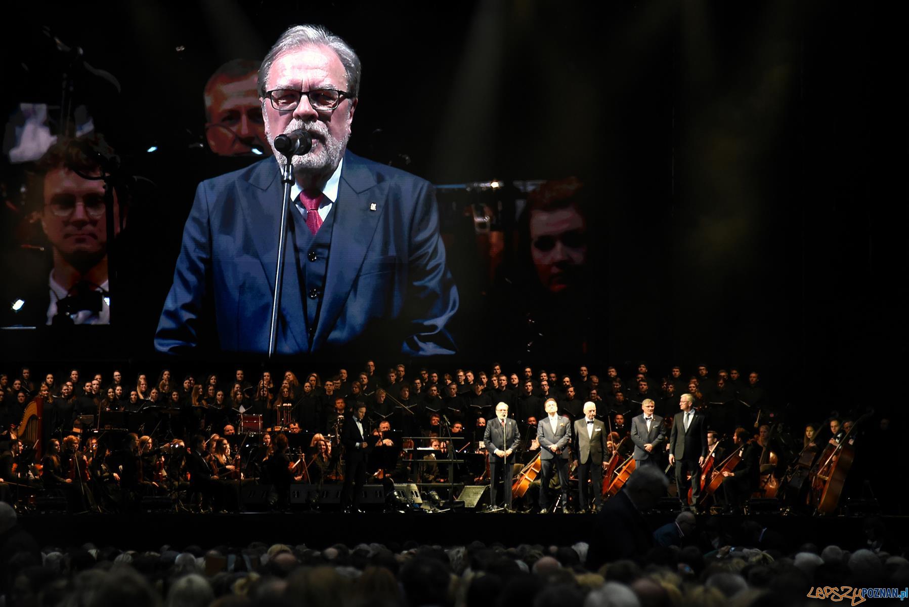 Andrea Bocelli - koncert w Poznaniu - prof. Andrzej Lesicki, rektor UAM  Foto: UMP
