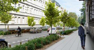 Wizualizacja ul. Umińskiego po wprowadzeniu Strefy Płatnego Parkowania na Wildzie  Foto: UMP