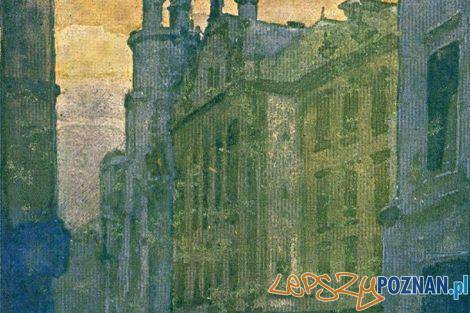 Stary Rynek, pocztówka wg projektu Franciszka Tatuli druk i nakład Atlas W. Kostrzewski Sp. w Poznaniu, ok. 1925 ze zbiorów Muzeum Historii Miasta Poznania  Foto: Stary Rynek, pocztówka wg projektu Franciszka Tatuli