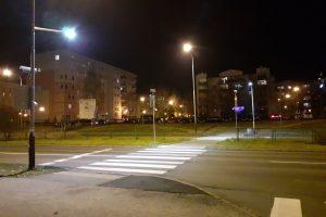 Doświetlenie przejścia dla piszych - Opieńskiego  Foto: Jan Perz (RO Piątkowo)