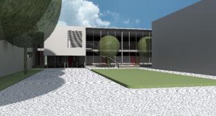 wizualizacja rozbudowy szkoły w Krzesinach  Foto: materiały prasowe / UMP