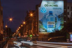 Mural Zacznij OD NOWA nocą  Foto: materiały prasowe / Maciej Nowaczyk