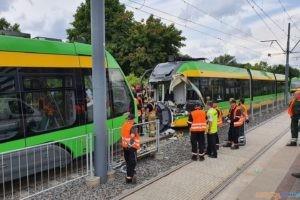 Zderzenie tramwajów na Starołęce (5.08.2021)  Foto: fb / Jacek Jaśkowiak