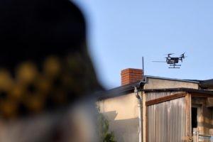 Dron bada jakość powietrza  Foto: UM Poznania